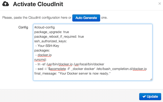 Docker with cloudinit