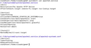 systemctl cat apache2 systemd
